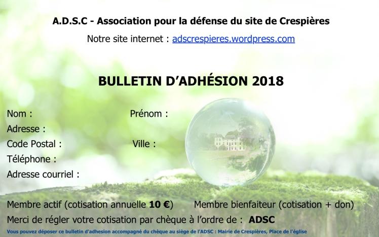Bulletin Adhésion
